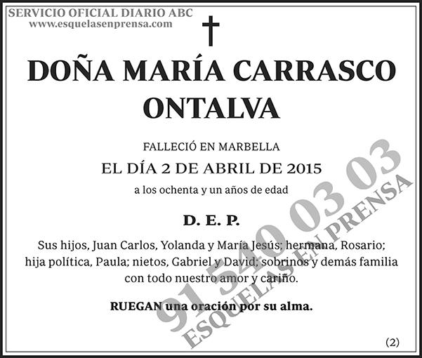 María Carrasco Ontalva